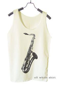 Saxophone Shirt Jazz shirt music tank top women shirt by teesmile, $15.00