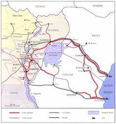mappa dell'esportazione di coltan e cassiterite