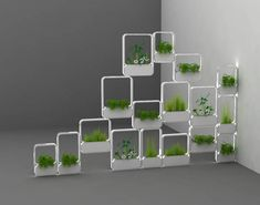 Designed as an indoor planter, the form exploits the properties of Corian as a… Indoor Planters, Indoor Garden, Standing Planter, National Institute Of Design, Room Partitions, Futuristic Interior, Vertical Planter, Inside Plants, Square Planters