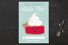 - super cute valentine for kids - yummy valentine's day -  Cutie Pie Classroom Valentine's Day Cards by Oma N. Ramkhelawan at minted.com