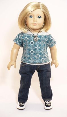 American Girl / 18 inch doll  skinny jeans grey by WhoaItsMe, $18.00
