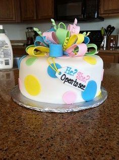 Gender announcement cake! Love the idea!