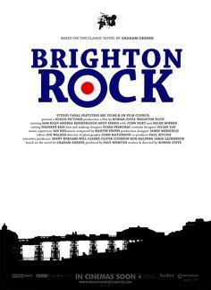 white space used to create a bridge in 'Brighton Rock' poster Julian Day, Brighton Rock, Graham Greene, Rock Posters, White Space, It Hurts, Bridge, Cinema, It Cast