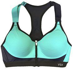 e2fff5f69184a Victorias Secret Incredible Front Close Sports Bra 32C Navy Aqua Splice         AMAZON BEST BUY     VictoriasSecretSportsBra