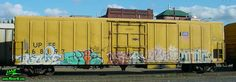 Nude NSF Yelp Onorok Freight Train with Graffiti