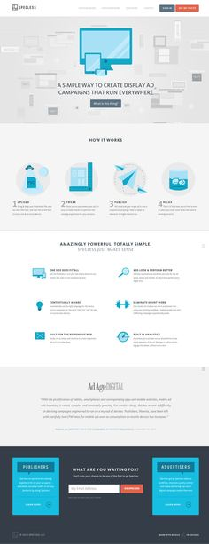 Specless, a simple tool for making responsive banner ads is drumming up interest with this minimalist marketing site.