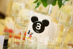 Wine Glass, Mickey Mouse, Tableware, Dinnerware, Michey Mouse, Tablewares, Place Settings