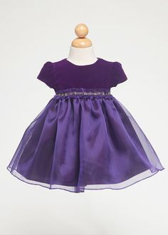 c6446e0b5ba Purple Velvet Infant Girl Dress Holiday Dresses