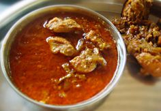 Gavthi, or village chicken curry, uses lean chicken that's bathed in a delicious mix of spices and chilli. The bony nature of the bird imparts a rich, gamy taste to the gravy.