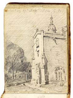A Sketchbook by John Constable - Victoria and Albert Museum - Catches the light so well