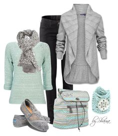"""mint and grey"" by shauna-rogers ❤ liked on Polyvore featuring H&M, Mexx, Wallis, Dakine, Rose & Rose and TOMS"
