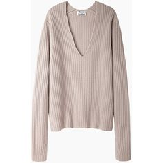 Acne Studios Deborah Wool Pullover (363,645 KRW) ❤ liked on Polyvore featuring tops, sweaters, shirts, jumpers, wool shirt, oversized sweaters, oversized pullover sweater, pullover sweater and brown shirt