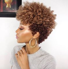 Love her tapered curly fro @modelesque_nic - Black Hair Information