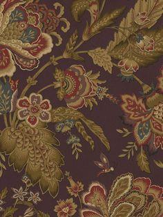 Interior Place - Dark Purple Jacobean Leaf Floral Wallpaper, $46.58 (http://www.interiorplace.com/dark-purple-jacobean-leaf-floral-wallpaper/)