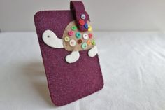 SALE  Felt iPhone Case. Unisex Polka Dot Turtle by NariDesignPot