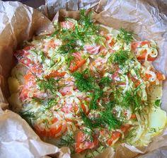 Siken ihana lohilaatikko maistuu kaikille - Ajankohtaista - Ilta-Sanomat Easy Cooking, Fresh Rolls, Vegetable Pizza, Baked Potato, Salmon, Steak, Recipies, Food And Drink, Fish