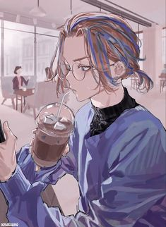 Kpop Anime, Otaku Anime, Animes Yandere, Fanarts Anime, Cute Anime Guys, Anime Love, Fanart Manga, Tokyo Ravens, Image Manga