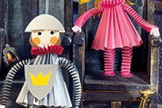 Ritter und Prinzessin basteln