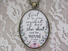 Hey, I found this really awesome Etsy listing at https://www.etsy.com/listing/198255112/bible-verse-pendant-necklace-god-is-in