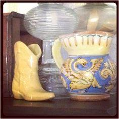 Oklahoma pottery (Frankoma) and Italian pottery