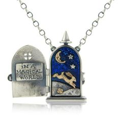 In A Magical World Locket from Nick Hubbard jewellery- Silver locket with enamel.