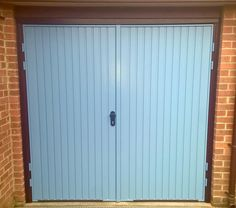 Garage Doors in Oxfordshire & Midlands - Elite GD Side Hinged Garage Doors, Garage Door Hinges, Best Garage Doors, Garage Door Makeover, Pastel Blue, Gemini, Outdoor Decor, Modern, Exterior