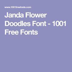 Janda Flower Doodles Font - 1001 Free Fonts