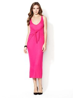 Ribbed Midlength Tie Front Dress by Rachel Pally on Gilt.com
