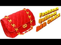 Fashion Quilted Bag Cake Tutorial by CakesStepbyStep - YouTube