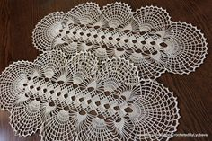 Crochet Oval Doily-Crochet Tablecloth-Large by CrochetedByLyubava