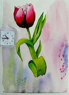 Jim's Watercolor Gallery - Demonstrations of a Tulip Watercolor Tutorials, Watercolor Ideas, Painting Tutorials, Art Tutorials, Watercolor Paintings, Different Art Styles, Diy Artwork, Water Colors, Painting Techniques