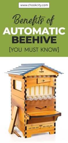 A flow hive is a type of beehive that is custom-built featuring patented technology. With one, you do not have to worry about stings, stressful extraction sessions, or killing bees in the process. Let's learn more benefits about it. . . . #ChookCity #Bees #Beehive #HoneyBee #Honey #FarmHoney #BeeKeepers #FarmLife #Womenwhofarm #Farming #AutomaticBeehive Backyard Beekeeping, Chickens Backyard, Honey Bee Benefits, Types Of Honey Bees, Honey Bee Farming, How To Kill Bees, Bee Facts, Bed And Breakfast, Bee Hive Plans