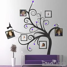 Family Love Heart Tree Wall Art Sticker Wall Decal Tree Sticker