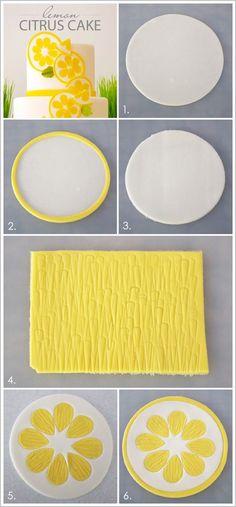 DIY Lemon Citrus Slices by Miso Bakes  |  TheCakeBlog.com