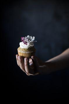 Pear almond cupcakes
