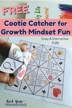 You can get your kids excited about learning & practicing a growth mindset using fun, hands-on activities. This free printable Growth Mindset Cootie Catcher is an excellent way to do that! - Kids education and learning acts Growth Mindset For Kids, Growth Mindset Classroom, Growth Mindset Activities, Growth Mindset Lessons, Mental Health Activities, Counseling Activities, School Counseling, Therapy Activities, Kindness Activities