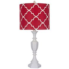 Red And White Make A Great Pair In This Transitional Table Lamp That Blend Contemporary With