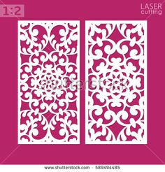 Laser cut ornamental panel with pattern. May be use for die cutting. Laser cut card. Template of wedding invitation. Cabinet fretwork panel. Lasercut metal panel. Wood carving. Vector.