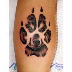 40 Amazing Dog Paw Tattoo Design Ideas ❤ liked on Polyvore featuring tattoos