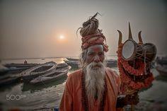 Shiva baba at Vanarasi - ganga power