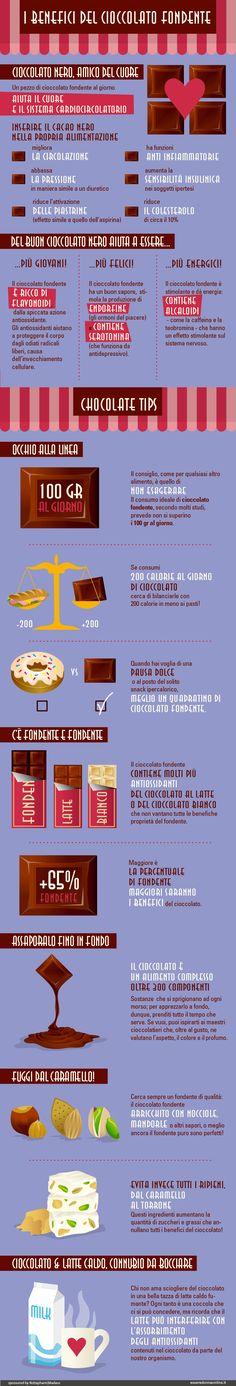 I benefici del #cioccolato fondente. #salute #alimentazione