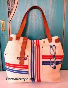 04. Grainsack  bag/handmade grainsack handbag/ grainsack shoulder bag/repurposed antique grainsack/limited edition/flax linen bag