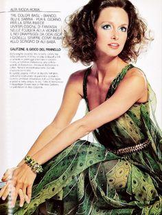 Vogue Italy Editorial March 1974 - Karen Graham, Apollonia Van Ravenstein & Annie Schaufuss by Irving Penn