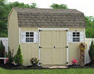 Backyard Wooden Sheds and Barns from the Amish in Lancaster, PA. Backyard wooden bicycle storage shed for Baltimore, Staten Island, Philadelphia. Bicycle Storage Shed, Backyard Storage Sheds, Backyard Sheds, Vinyl Storage Sheds, Storage Sheds For Sale, Shed Storage, Shed Kits For Sale, Wooden Workshops, Gardens