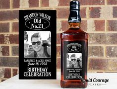 Customize your 750 mL Jack Daniels Whiskey Bottles! Add custom labels to liquor bottles for your next birthday party, wedding, or event! Want this