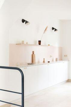 Terrazzo cuisine in Paris – Heju Studio - Decoration For Home Loft Interior, Estilo Interior, Kitchen Interior, Interior Styling, Kitchen Decor, Kitchen Design, Interior Design, Kitchen Ideas, Interior Modern