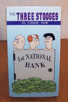 The Three Stooges - VHS - In Crime Time - 4 Episodes - Animated - Sealed #vintagephilly