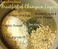 TRY THIS HOMEMADE CHICKEN FEED RECIPE!!!  Fresh Eggs Daily®: New and Improved Breakfast of Champion Layers
