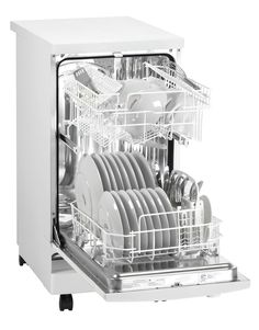 Danby 18 in. Portable Dishwasher in White with 8 Place Setting - The Home Depot Portable Dishwasher, Built In Dishwasher, Mini Dishwasher, Compact Dishwasher, Dishwasher Cover, Dishwasher Detergent, Small Space Living, Tiny Living, Zucchini
