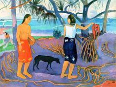 Painting by Paul Gauguin Post Impressionism, Eugène Henri Paul Gauguin, Tiki Art, Travel Art, Painting, Art, Watercolour Inspiration, Paul Gauguin, Gauguin Tahiti